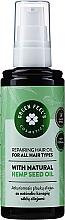 Düfte, Parfümerie und Kosmetik Regenerierendes Haaröl mit natürlichem Hanfsamenöl - Green Feel's Repairing Hair Oil