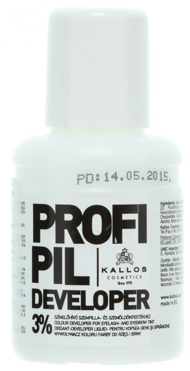 Entwicklerlotion für Augenbrauen und Wimpern 3% - Kallos Cosmetics Profi Pil Developer 3% — Bild N1
