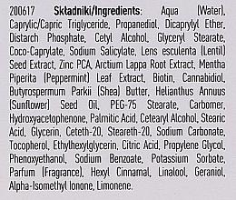 Seboregulierende, mattierende und antibakterielle Gesichtscreme für fettige und Mischhaut - Lirene Cannabis Garden Mint & CBD — Bild N4