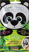 Düfte, Parfümerie und Kosmetik Detox 3D-Tuchmaske mit Bambus, grünem Tee und Kohle - Bielenda Crazy Mask 3D Panda