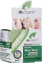 Düfte, Parfümerie und Kosmetik Konzentrierte, beruhigende und feuchtigkeitsspendende Körper- und Gesichtscreme mit Bio Aloe Vera - Dr.Organic Bioactive Skincare Aloe Vera Concentrated Cream