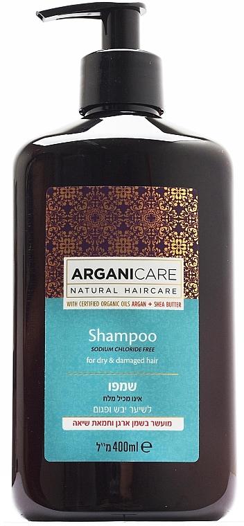 Shampoo mit Sheabutter und Arganöl für trockenes und strapaziertes Haar - Arganicare Shea Butter Shampoo For Dry Damaged Hair