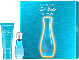 Düfte, Parfümerie und Kosmetik Davidoff Cool Water Wave Woman 2018 - Duftset (Eau de Toilette 30ml + Körperlotion 75ml)
