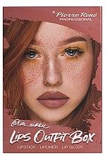 Düfte, Parfümerie und Kosmetik Lippen-Make-up Set (Lippenstift 3g + Lippenkontutenstift 0.4g + Lipgloss 6ml) - Pierre Rene Lips Outfit Box No. 03 @Im.Nikki