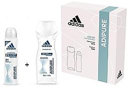 Düfte, Parfümerie und Kosmetik Duftset - Adidas Adipure Woman (Deospray 150ml + Duschgel 250ml)