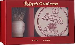 Düfte, Parfümerie und Kosmetik Rasierset - Taylor of Old Bond Street Cedarwood (Rasierpinsel + Rasiercreme 150g)