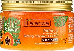 Düfte, Parfümerie und Kosmetik Regenerierendes Zuckerpeeling für den Körper mit Papaya - Bielenda Exotic Paradise Peel