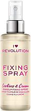 Düfte, Parfümerie und Kosmetik Make-up-Fixierer - Makeup Revolution Fixing Spray Cookies & Cream