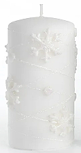 Düfte, Parfümerie und Kosmetik Dekorative Kerze weiß 7x14 cm - Artman Snowflake Application