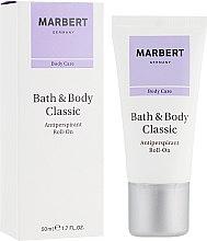 Düfte, Parfümerie und Kosmetik Deo Roll-on Antitranspirant - Marbert Bath & Body Classic Antiperspirant Roll-On