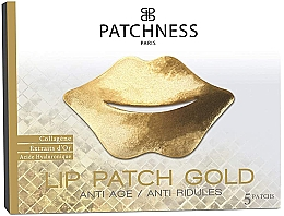 Düfte, Parfümerie und Kosmetik Anti-Aging Lippenpatches mit Kollagen, Gold und Hyaluronsäure - Patchness Lip Patch Gold
