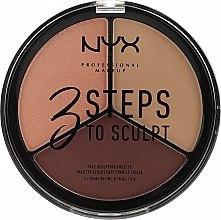 Düfte, Parfümerie und Kosmetik Konturpuder-Palette - NYX Professional Makeup 3 Steps To Sculpting Palette