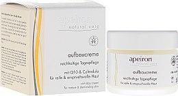 Düfte, Parfümerie und Kosmetik Reichhaltige Aufbaucreme für den Tag mit Q10 und Ringelblume für reife und anspruchsvolle Haut - Apeiron Regenerating Day Cream