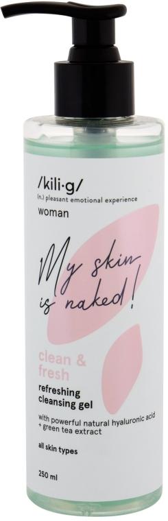 Erfrischendes Reinigungsgel für das Gesicht mit Hualuronsäure und Extrakt aus grünem Tee - Kili·g Woman Clean & Fresh Refreshing Cleansing Gel