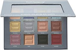 Düfte, Parfümerie und Kosmetik Lidschattenpalette - Bellapierre 12 Color Pro Jewel Eye Palette