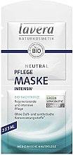Düfte, Parfümerie und Kosmetik Regenerierende und intensive Gesichtsmaske mit Bio Nachtkerze - Lavera Neutral Nourishing Intensive Mask