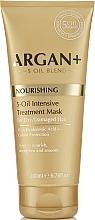 Düfte, Parfümerie und Kosmetik Nährende stärkende und glättende Maske mit Hyaluronsäure und 5 ätherischen Ölen für trockenes und stapaziertes Haar - Argan + Nourishing 5-Oil Intensive Treatment Mask