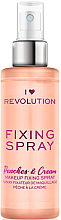 Düfte, Parfümerie und Kosmetik Make-up-Fixierer - Makeup Revolution Fixing Spray Peaches & Cream