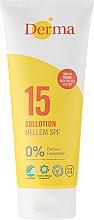 Düfte, Parfümerie und Kosmetik Sonnenschutzlotion SPF 15 parfümfrei - Derma Sun Lotion SPF 15