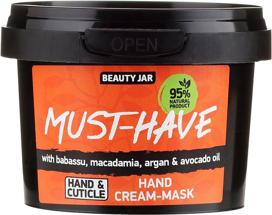 Handcreme-Maske mit Babassu-, Macadamia-, Argan- und Avocadoöl - Beauty Jar Must-Have Hand Cream-Mask