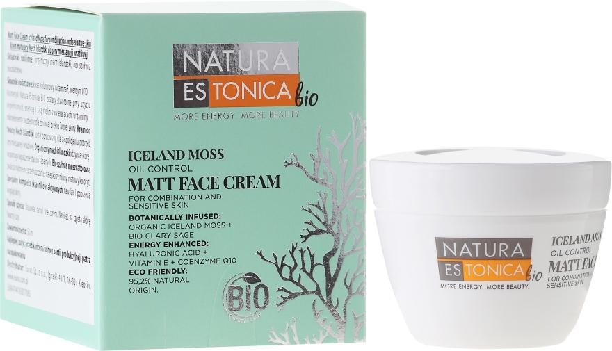 Mattierende Gesichtscreme mit isländischem Moos - Natura Estonica Iceland Moss Face Cream