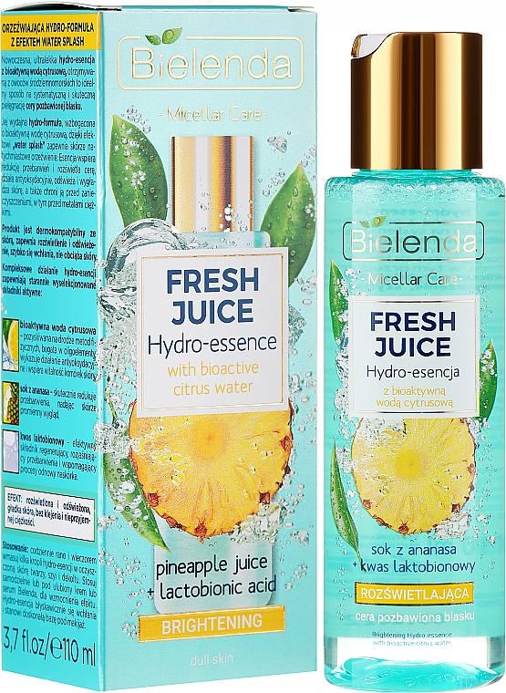 Aufhellende Hydro-Gesichtsessenz mit Ananas - Bielenda Fresh Juice Brightening Hydro Essence Pineapple
