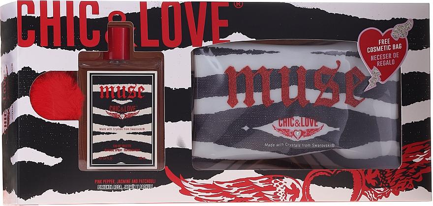 Chic&Love Muse - Duftset (Eau de Toilette 100ml + Kosmetiktasche)