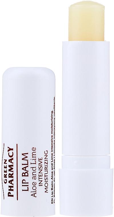Intensiv feuchtigkeitsspendender Lippenbalsam mit Aloe und Limette SPF 10 - Green Pharmacy Lip Balm With Aloe And Lime