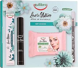 Düfte, Parfümerie und Kosmetik Make-up Set (Eyeliner 1.1g + Mascara 12ml + Make-up-Entferner-Tücher 10 St.) - Equilibra Love's Nature