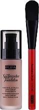 Düfte, Parfümerie und Kosmetik Make-up Set - Pupa No Transfer (Foundation 30ml + Foundationpinsel 1 St.)