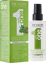 Düfte, Parfümerie und Kosmetik Spraymaske für trockenes und geschädigtes Haar mit grünem Teeduft - Revlon Professional Uniq One Green Tea Scent Hair Treatment