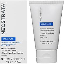 Düfte, Parfümerie und Kosmetik Feuchtigkeitsspendende und glättende Gesichtscreme mit AHA-Säure 10% - Neostrata Resurface Glycolic Renewal Smoothing Cream Ultra
