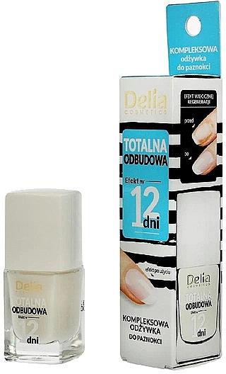 Nährender und regenerierender Nagelconditioner mit Effekt in 12 Tagen - Delia Super Total Restoration Nail Conditioner