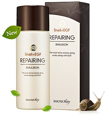 Regenerierende Gesichtsemulsion mit Schneckenextrakt - Secret Key Snail+EGF Repairing Emulsion