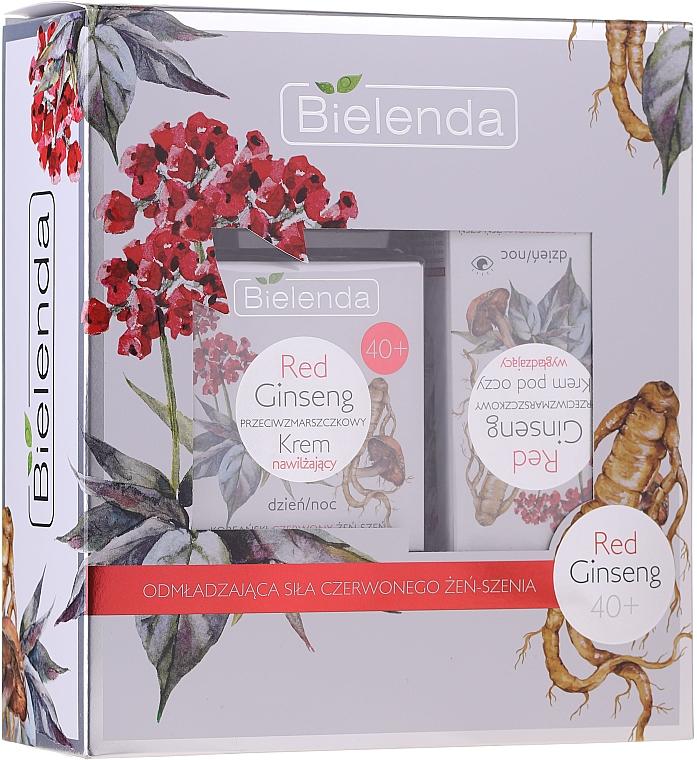 Gesichtspflegeset mit rotem Ginseng 40+ - Bielenda Red Ginseng 40+ (Gesichtscreme 50ml + Augenkonturcreme 15ml)