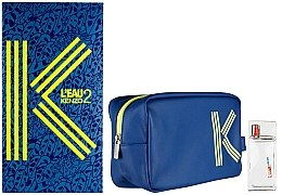 Düfte, Parfümerie und Kosmetik Kenzo L'Eau 2 Kenzo Pour Homme - Duftset (Eau de Toilette 50ml + Kosmetiktasche)