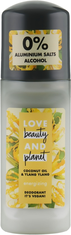 Energetisierendes Deo Roll-on - Love Beauty&Planet Deodorant Roller Coconut Oil And Ylang Ylang