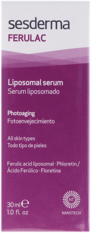 Liposomales Gesichtsserum mit Ferulasäure - SesDerma Laboratories Ferulac Serum — Bild N2