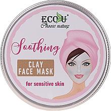 Düfte, Parfümerie und Kosmetik Beruhigende Gesichtsmaske mit Tonerde für empfindliche Haut - Eco U Soothing Clay Face Mask For Sensative Skin