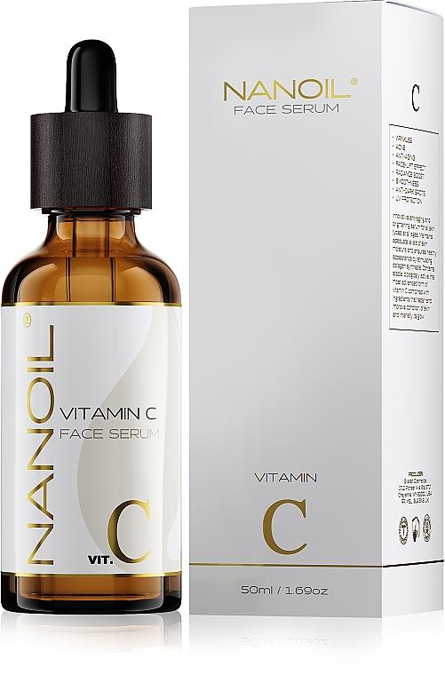 Aufhellendes Gesichtsserum mit Vitamin C - Nanoil Face Serum Vitamin C