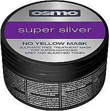Düfte, Parfümerie und Kosmetik Sulfatfreie Anti-Gelbstich Pflegemaske für gesträhntes und blondiertes Haar - Osmo Super Silver No Yellow Mask
