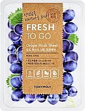 Düfte, Parfümerie und Kosmetik Porenminimierende Tuchmaske für das Gesicht mit Traubenextrakt - Tony Moly Fresh To Go Mask Sheet Grape