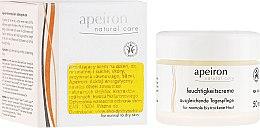 Düfte, Parfümerie und Kosmetik Ausgleichende Tagescreme für normale bis trockene Haut - Apeiron Moisturizing Cream