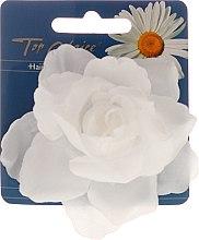 """Düfte, Parfümerie und Kosmetik Haarklammer """"White Collection"""" 26188, Weiße Blume - Top Choice"""
