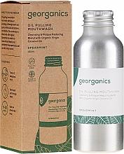 Düfte, Parfümerie und Kosmetik Mundziehöl mit Kokosöl und ätherischem Speerminzöl - Georganics Spearmint Mouthwash