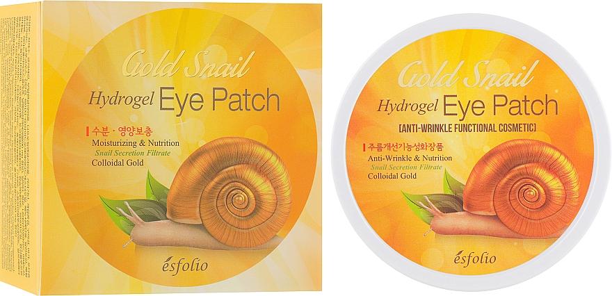 Feuchtigkeitsspendende und pflegende Hydrogel-Augenpatches mit Goldschnecke - Esfolio Gold Snail Hydrogel Eye Patch