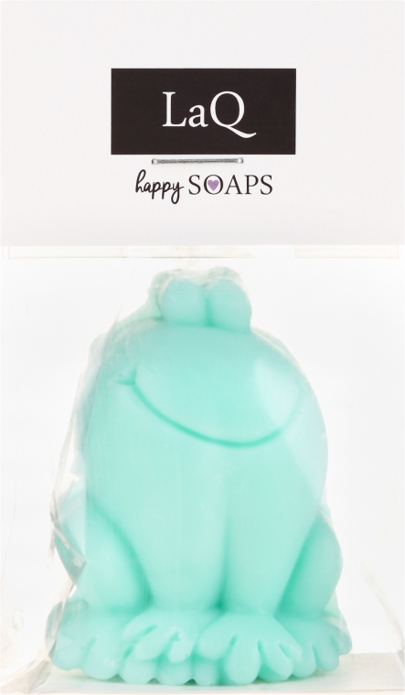 Handgemachte Naturseife Frosch mit Kiwiduft - LaQ Happy Soaps Natural Soap