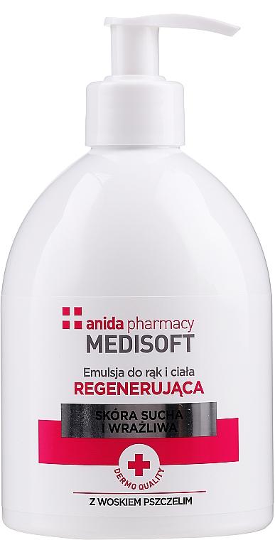 Regenerierende Hand- und Körperemulsion für trockene und empfindliche Haut - Anida Medisoft
