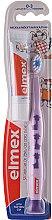 Düfte, Parfümerie und Kosmetik Kinderzahnbürste weich 0-3 Jahre violett mit Giraffen + Zahnpaste 12 ml - Elmex Learn Toothbrush Soft + Toothpaste 12ml