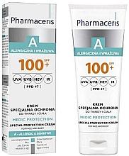 Düfte, Parfümerie und Kosmetik Sonnenschützende Körper- und Gesichtscreme für allergische und empfindliche Haut SPF 100+ - Pharmaceris A Medic Protection Special Protection Cream SPF 100+